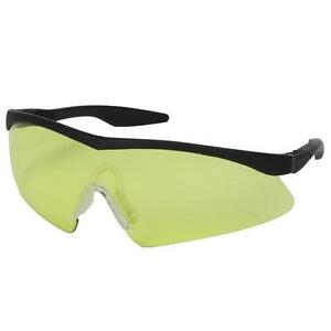Safety Works 10021280 Semi rimless Safety Glasses Straight Yellow Lens 12 Pack