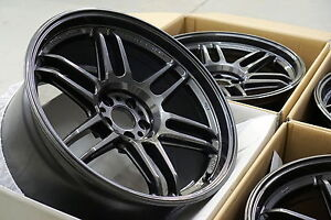 Ame Tm02 18x9 5 22 5x100 Gunmetal Tc Frs Brz 08 14 Wrx 4 Wheels