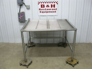 Win holt 48 X 40 Stainless Steel Prep Butcher Drain Table Sink 4 Dt 404833