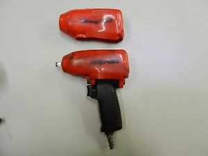 Good Condition Snap On Mg325 Red 3 8 Drive Impact Wrench Gun With 2 Covers