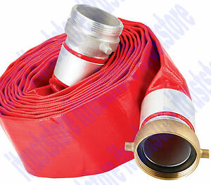 Roll Flat Trash Water Waste Pump Discharge Evacuation Pvc Hose 3 X 25 Ft