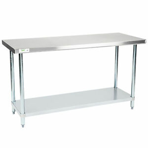 24 X 60 Stainless Steel Work Prep Table Shelf Commercial Restaurant Nsf