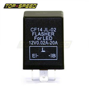 Cf 14 3 Pin Led Turn Blinker Light Flasher Fix Relay 12v Dc 0 02 20a Motorcycle