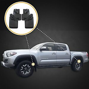 Mud Flaps Mud Guards 2016 2017 Toyota Tacoma Front Rear 4pc Set