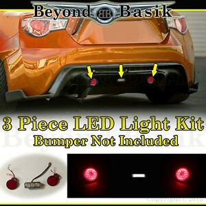 2013 2017 Subaru Brz Scion Frs 86 3pc Led Kit For Rear Bumper Body Kit Diffuser