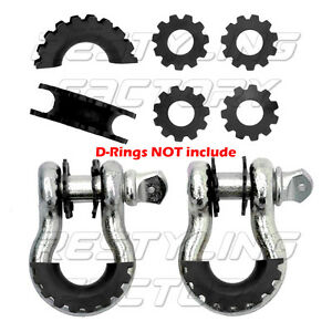 New Black Isolator Washers 1 Pair Set Silencer Clevis For 3 4 D ring Shackles