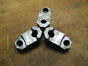 Set Of 3 Reversable Hard Jaws For A 3 Jaw Lathe Chuck