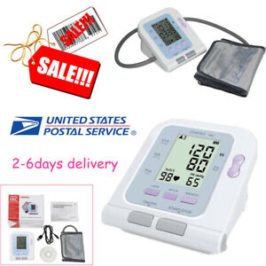 New Digital Blood Pressure Monitor Sphygmomanometer Alarm Free Software 08c