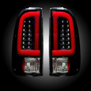 Recon 264293bk Ford Superduty 08 16 F250hd 350 450 550 Smoked Tail Lights Led