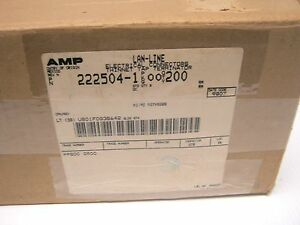 Amp 222504 1 Lot Of 200 Thinnet Tap System Lan line Connectors