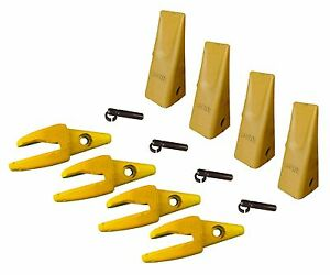 4 Cat Style J200 Backhoe Bucket Shanks 3 4 Lip Dirt Teeth 1u 3202 119 3205
