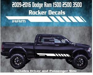 2009 2016 Dodge Ram Rocker Stripe Vinyl Decal Graphic Racing 1500 2500 3500 Hemi