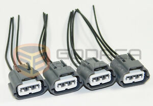 4 X Plug Connector Harness Pigtail For Nissan And Mazda Ignition Coils 3 way