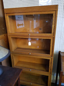 Globe Wernicke 6 Piece Oak Barrister Bookcase