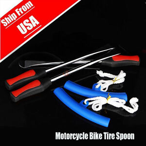 3 Spoon Motorcycle Tire Iron Change W Rim Protector Tool Combo Lever Gift Set Mg