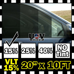 Uncut Window Tint Film Roll 15 Vlt 20 120 10 Feet Office Auto Commercial Home