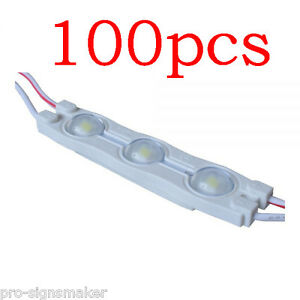 100pcs Smd 2835 Waterproof Led Module 3 Chips For Internal Illumination Of Signs