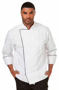 Dickies Chef Adult Comfort Double Needle Stitching Long Sleeve Chef Coat Dc42b