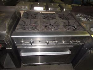 6 Burner Commercial Gas Stove With Oven