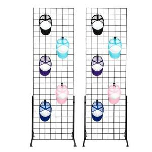 2 X 6 Grid Wall Panel Floorstanding Display Fixture With Deluxe T style Base