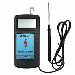 All sun Digital Electric Fence Tester Max 9 9 Kv