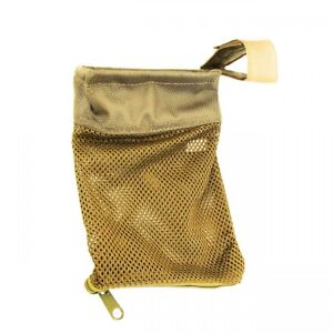 Tactical Tan 223 Zipperd Brass Shell Catcher Mesh Bag Picatinny Weaver Rail
