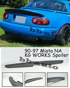 For 90 97 Mazda Miata Na Kg Works Style Abs Plastic Rear Trunk Spoiler Wing Lip