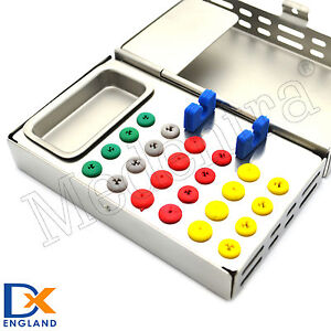 Dental Implantology Box 24 Silicone Pads Bur Holder Endo Box Surgical Implant Ce