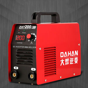 220v Portable Small Household Mini Inverter Dc Electric Welding Machine Zx7 200