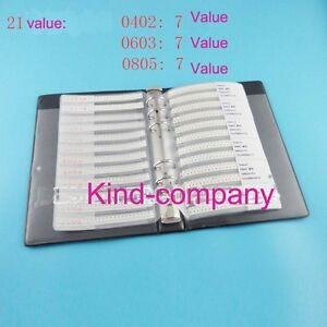 21value1400pcs 0402 0603 0805 Multichip Ferrite Beads Assorted Book Kit Sample