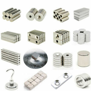 10 100pcs N35 n50 n52 Magnet Super Strong Disc Block Cube Hole Fridge Rare Earth