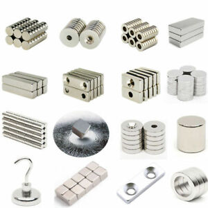 10 200pcs N35 n50 n52 Magnet Super Strong Disc Square Block Cube Hole Rare Earth