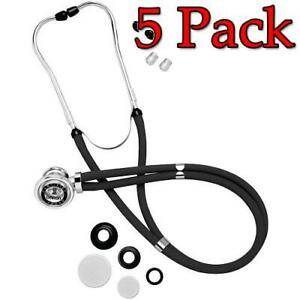 Omron Sprague Rappaport Stethoscope Black 1ct 5 Pack 073796416003s1104