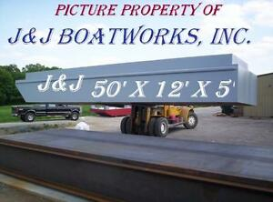New 50 x24 x5 Sectional Barge truckable Barge Work Floats Dredge
