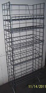 5 tier Multi purpose Adjustable Wire Shelf Display Rack Chrome Color