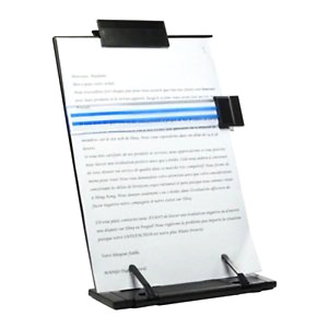 Book Stand Black Metal Desktop Document Holder With 7 Adjustable Position