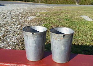 2 Nice Old Tin Sap Buckets Bucket Flowers Planters