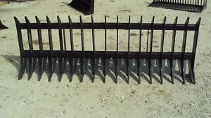 96 Heavy Duty Root Brush Rock Rake For Skid Steers