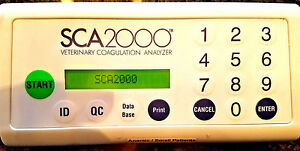 Synbiotics Sca2000 Veterinary Coagulation Analyzer Idexx Coag Dx Verified Unit