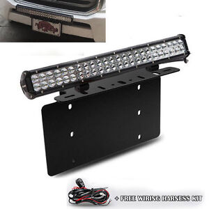 For Toyota 4runner Tacoma 126w Led Light Bar Front License Plate Mount Bracket