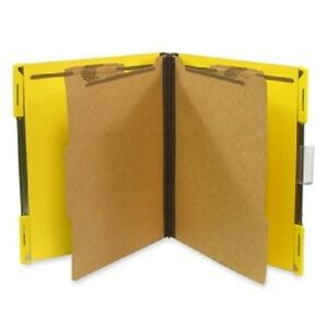 Sj Paper Hanging Pressboard Classification Folders Letter 6 Fastener Yellow