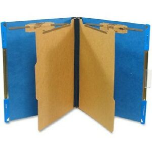 Sj Paper Hanging Pressboard Classification Folders Letter 6 Fasteners Blue