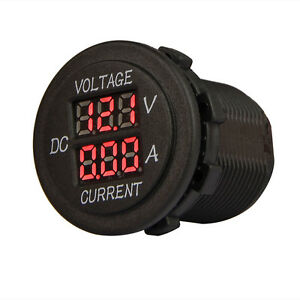 Dc Digital Led Voltmeter Ammeter 12 24v Dual Volt Amp Meter For Car Motorcycle