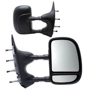 2002 2014 Ford Econoline Van Extendable Manual Replacement Towing Mirror Pair