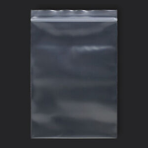 50 Pack 5 X 7 Reclosable Clear Plastic Poly Zipper Bags 6 Mil Heavy Duty