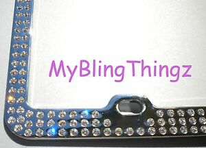 Embedded Clear Diamond Bling Rhinestone License Plate Frame W swarovski Crystals