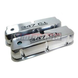 Sbf Small Block Ford 347 Stroker C i Polished Aluminum Tall Valve Covers Mustang