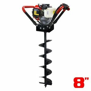Xtremepowerus V type 55cc 2 Stroke Gas Post Hole Digger One Man Auger Digger