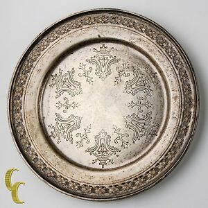 Towle Sterling Silver Bread Plate 5433 Nice Toning