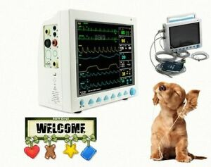 Veterinary Vital Sign Patient Monitor 6 Parameters Us Seller Portable Contec